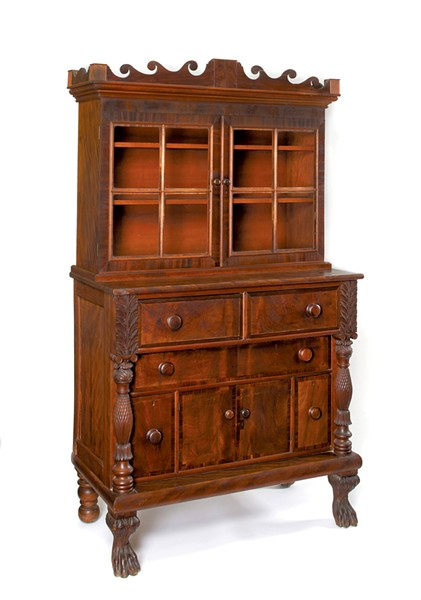 Oramel Partridge sideboard/bookcase, 1829 - COURTESY OF THE SHELBURNE MUSEUM