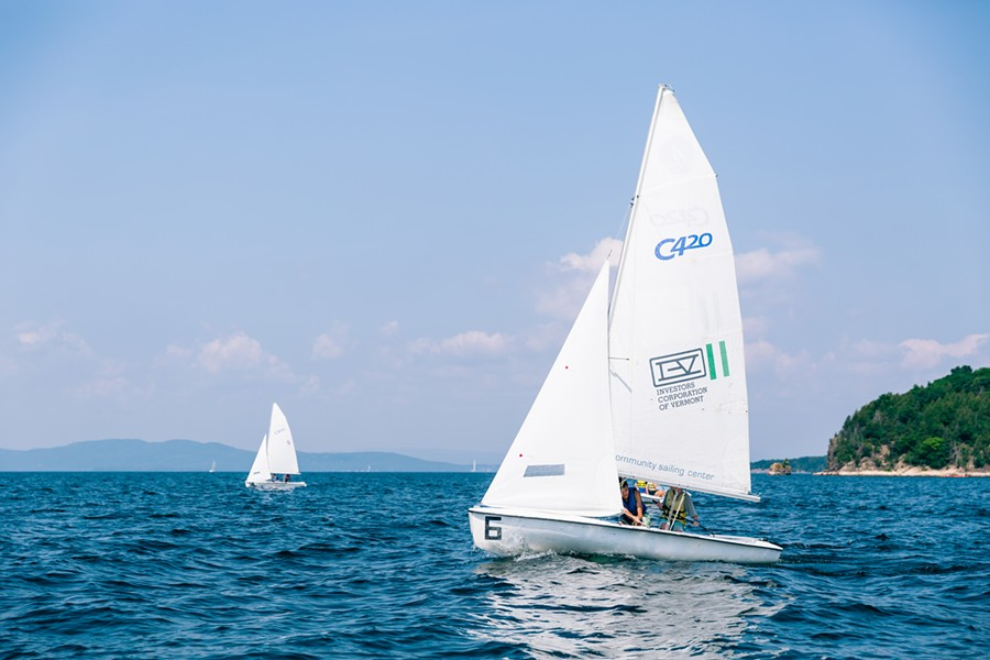 A CSC dinghy on Lake Champlain - COURTESY OF THE COMMUNITY SAILING CENTER