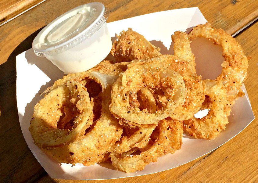 Pint of onion rings, $3.75 - ALICE LEVITT