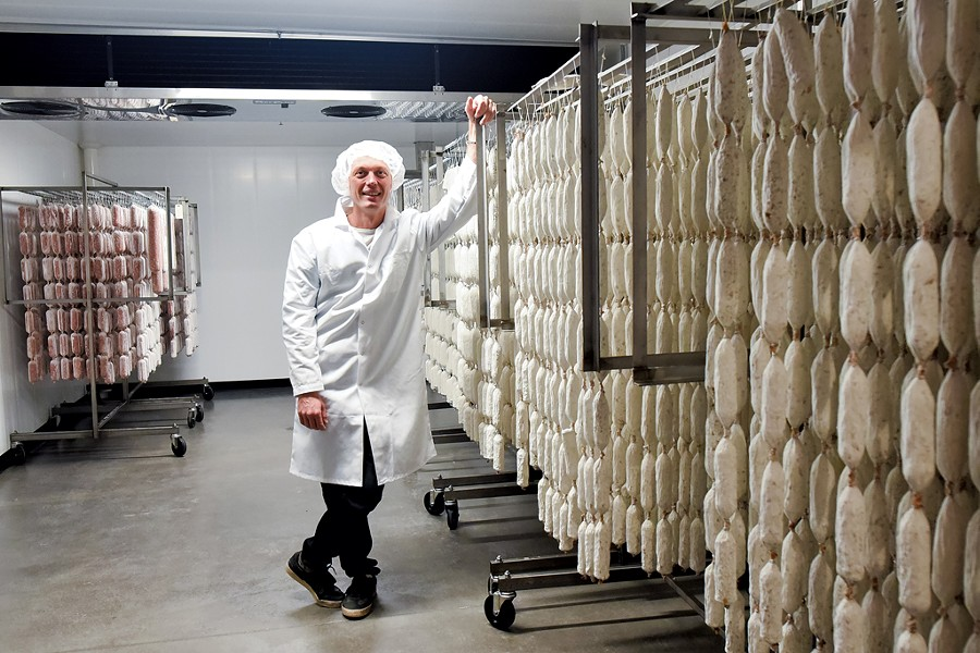 Pete Colman of Vermont Salumi - COURTESY OF TOMMY FRIEDMAN