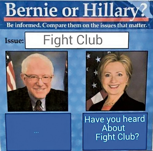 VARIATIONS ON A MEME: This 2016 meme format pitted Sanders against Hillary Clinton on various pop-culture topics. Critics said the memes were sexist. - KNOW YOUR MEME/OBVIOUSPLANT.TUMBLR.COM