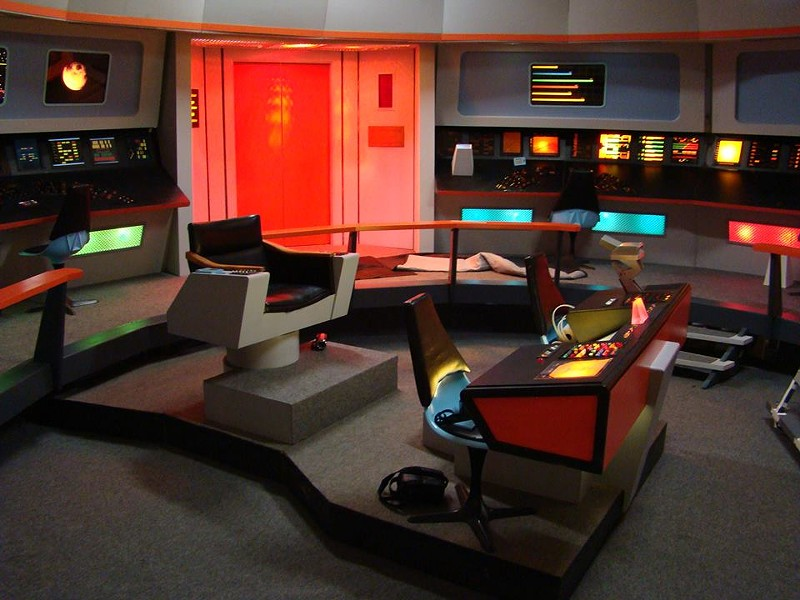 The bridge set on USS Enterprise - COURTESY OF TREKONDEROGA AND RETRO FILM STUDIOS