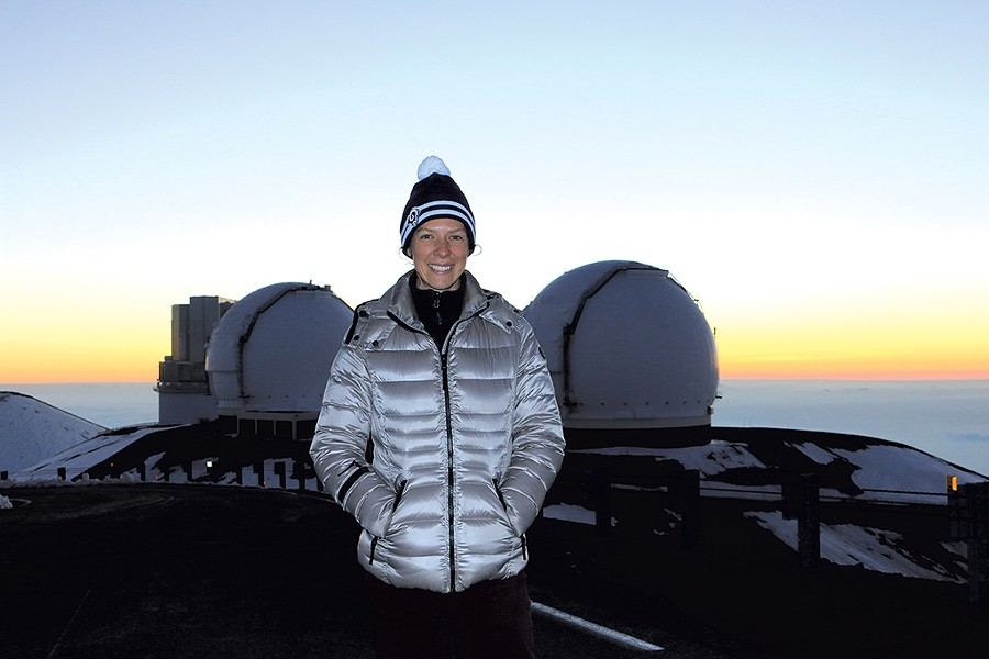 Eilat Glikman at the W.M. Keck Observatory in Hawaii - COURTESY OF EILAT GLIKMAN