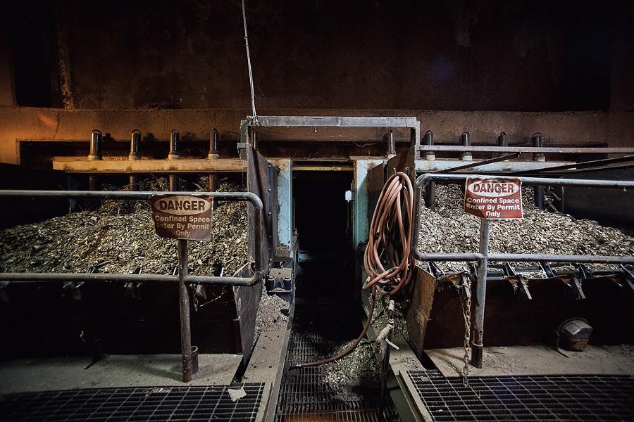 Chips inside the McNeil Generating Station - BEAR CIERI