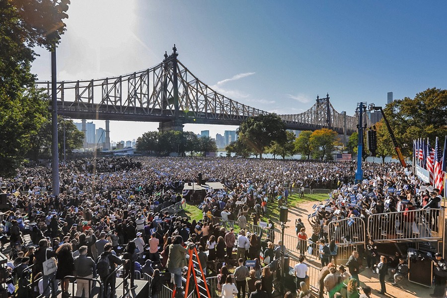 The crowd at the rally - COURTESY OF THE SANDERS CAMPAIGN