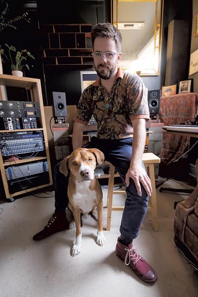 Eric Maier and his dog, Sky - LUKE AWTRY