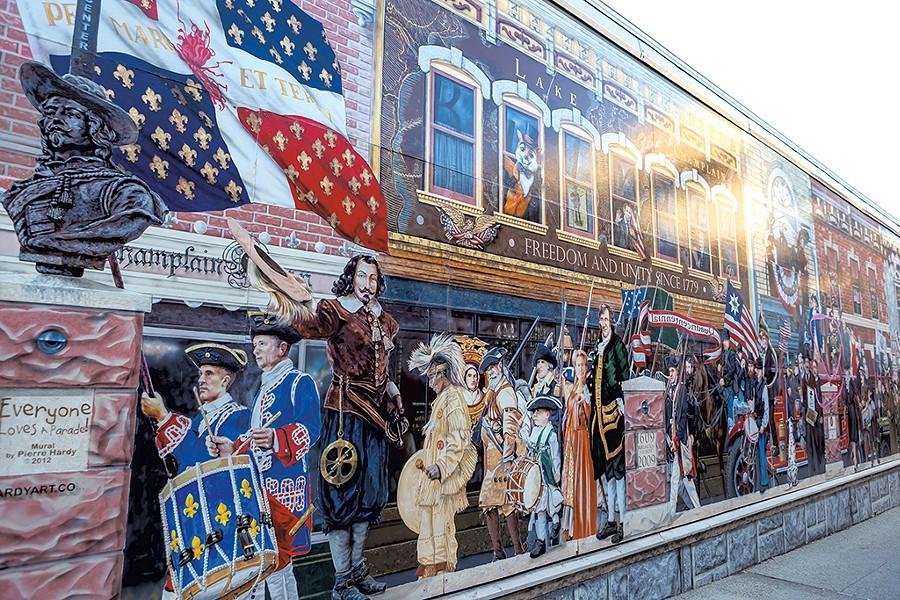 The restored mural - LUKE AWTRY