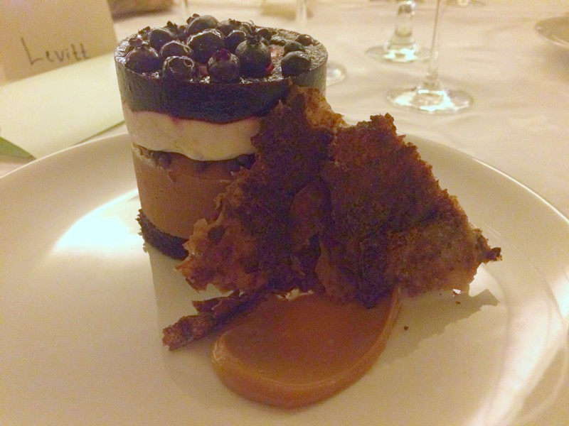 Lavender chocolate mousse with blueberry gelée - ALICE LEVITT