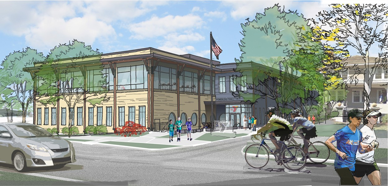 A rendering of the exterior of the new facility - GREATER BURLINGTON YMCA