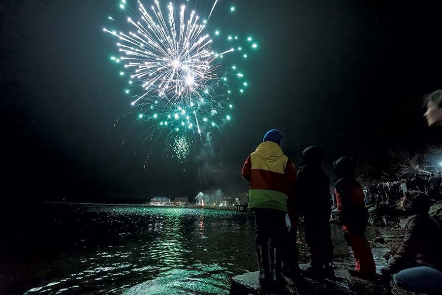 Fireworks over Lake Champlain - COURTESY OF KYLE TANSLEY