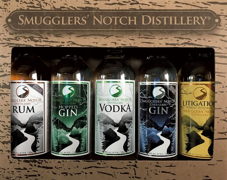 Smugglers' Notch Distillery 50ml mini bottles - COURTESY PHOTO