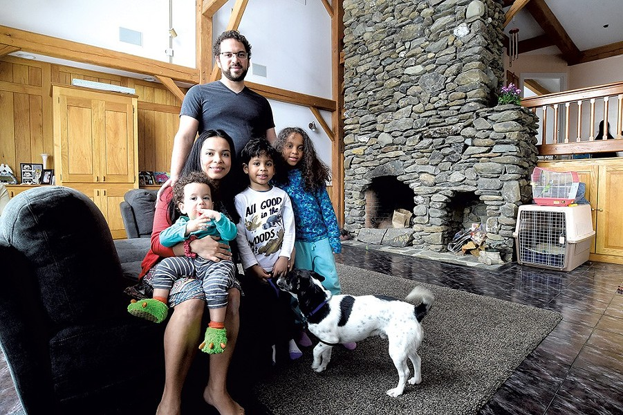 The Turner family, who got the grant after relocating to Cambridge - FILE: JEB WALLACE-BRODEUR
