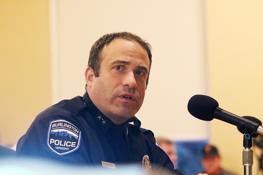 Burlington Police Chief Brandon del Pozo - COURTNEY LAMDIN