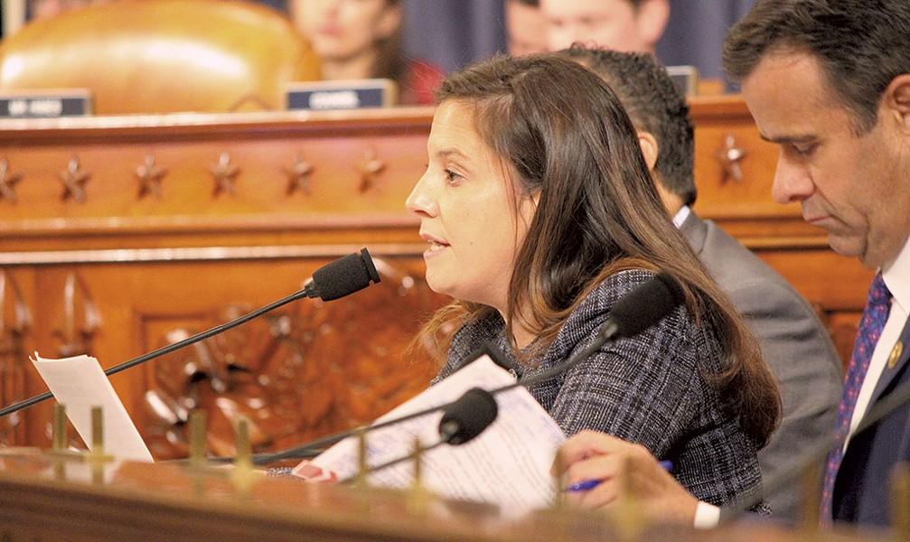 Rep. Elise Stefanik at the House impeachment hearings - PAUL HEINTZ