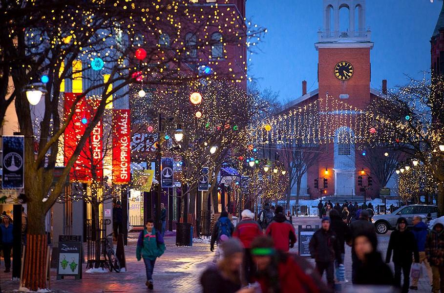 Church Street Marketplace at dusk - COURTESY OF PARK BURLINGTON