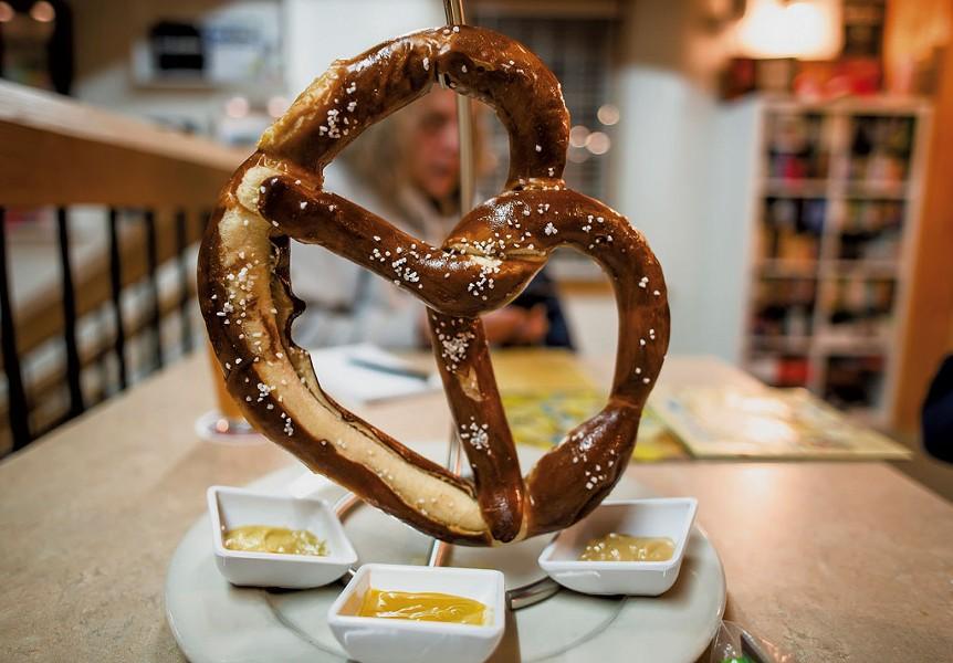 A giant pretzel - GLENN RUSSELL