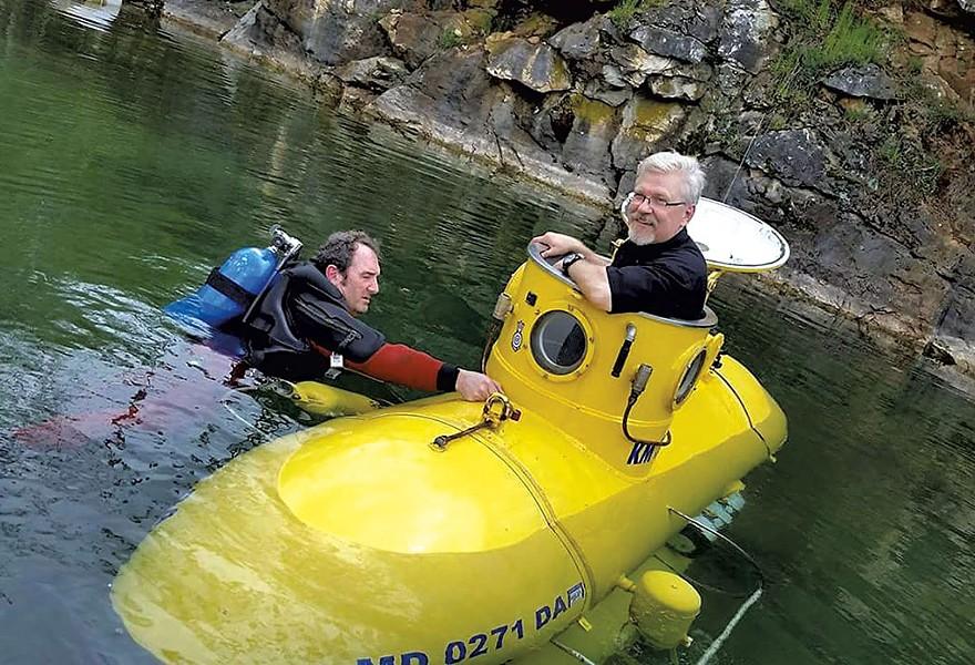 Harold Maynard's homemade submarine - COURTESY OF BRIAN HUGHES