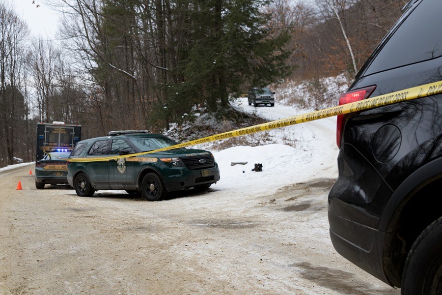 The scene of an officer-involved shooting in Bristol - COLIN FLANDERS