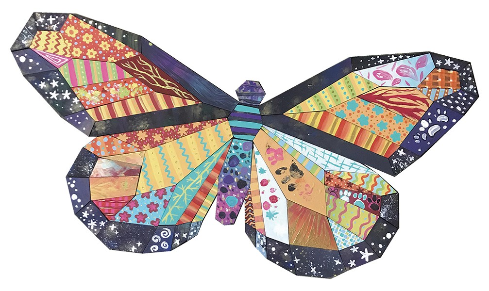 Mary Lacy's butterfly Paint Puzzle - COURTESY OF MARY LACY