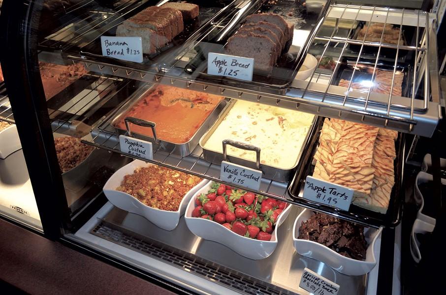 The bakery case at the Garden Atrium