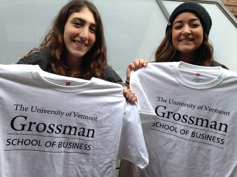 UVM business school students Zoe Urban, 20, and Amanda Reid, 21 - MOLLY WALSH