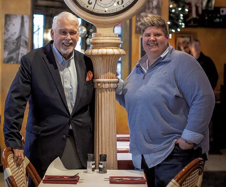 Bob Conlon and Donnell Collins of Leunig's Bistro & Café - LUKE AWTRY