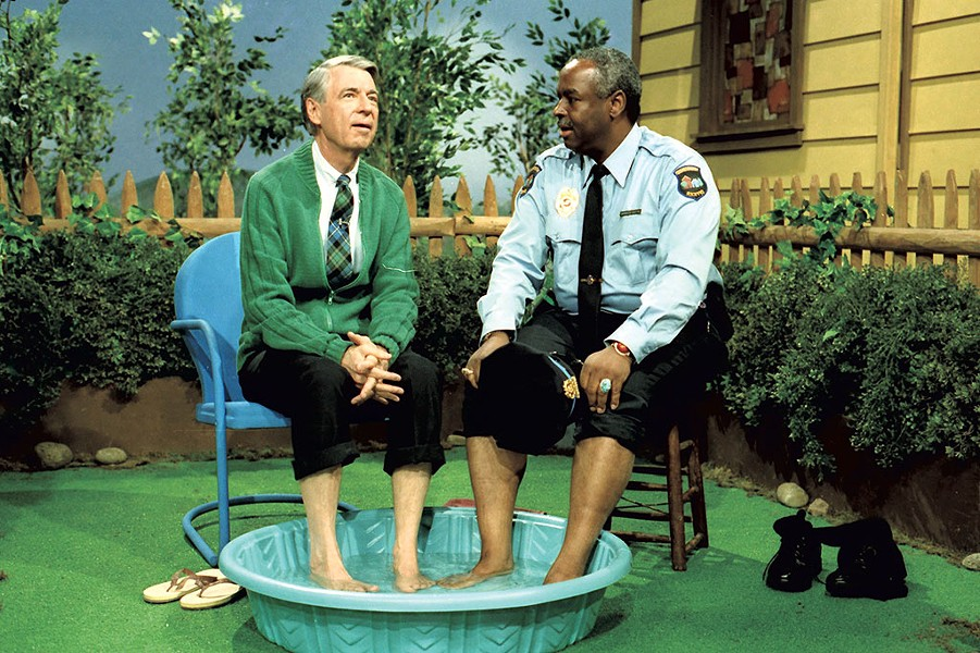 "Mister Rogers with Officer Clemmons on the May 9, 1969, episode of ""Mister Rogers' Neighborhood"" - COURTESY OF FOCUS FEATURES/JOHN BEALE"