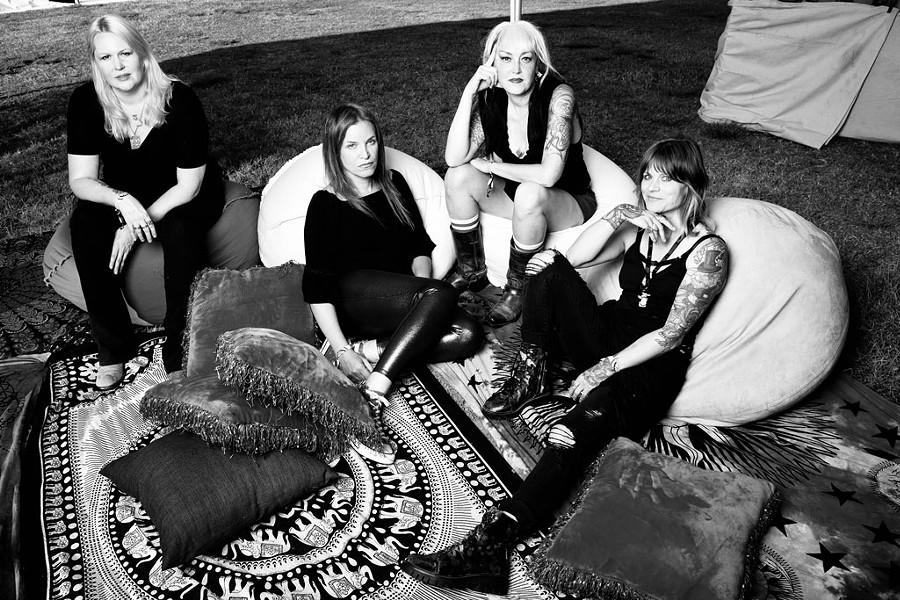 Black Sabbitch, from left: Emily Burton, Angie Scarpa, Melanie Makaiwi and Alice Austin - COURTESY OF MICHAEL WISE