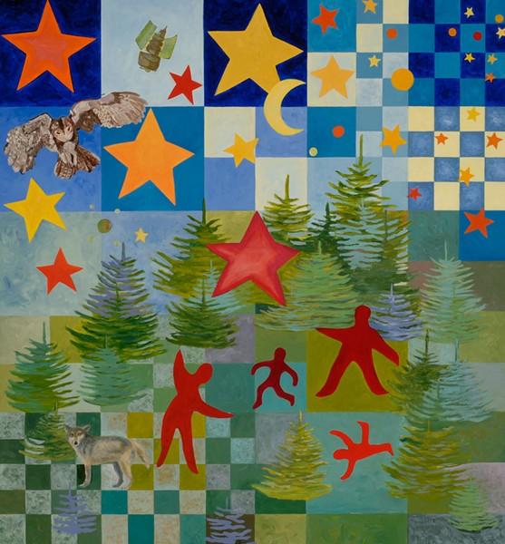 Mural by Carolyn Enz Hack at Thetford Elementary School - COURTESY PHOTO