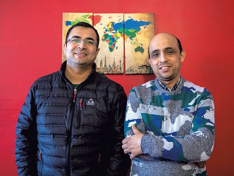 Bhuwan Sharma (left) and Chandra Pokhrel - LUKE AWTRY
