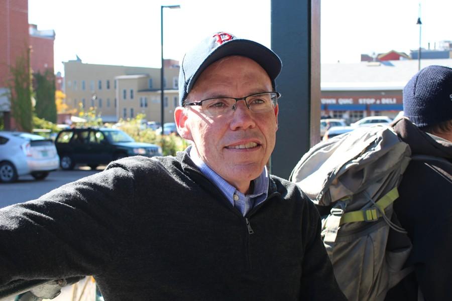Bill McKibben outside City Market - PAUL HEINTZ