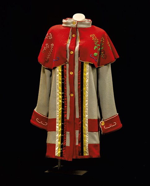 Beaded bear medicine coat made by Michael Descoteaux of Nulhegan Tribe. - COURTESTY OF DIANE STEVENS