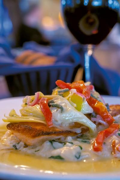 Salmon cucina at Sarducci's - JEB WALLACE-BRODEUR