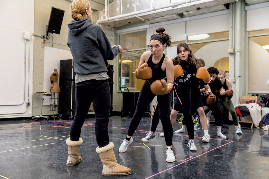 The cast in a boxing training session - COURTESY OF DARTMOUTH COLLEGE/SEAMORE ZHU