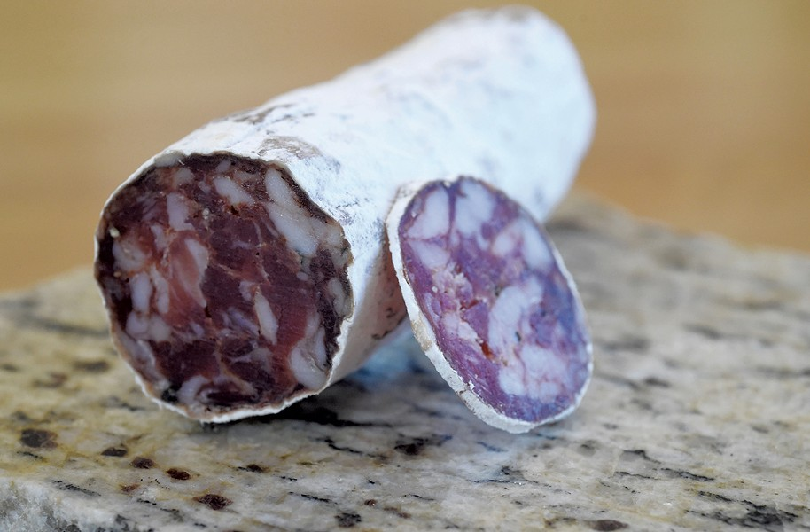 Babette's Table salami at Mad River Taste Place in Waitsfield - JEB WALLACE-BRODEUR