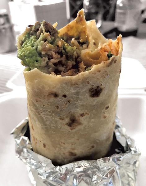 Carnitas burrito with guacamole - JORDAN BARRY