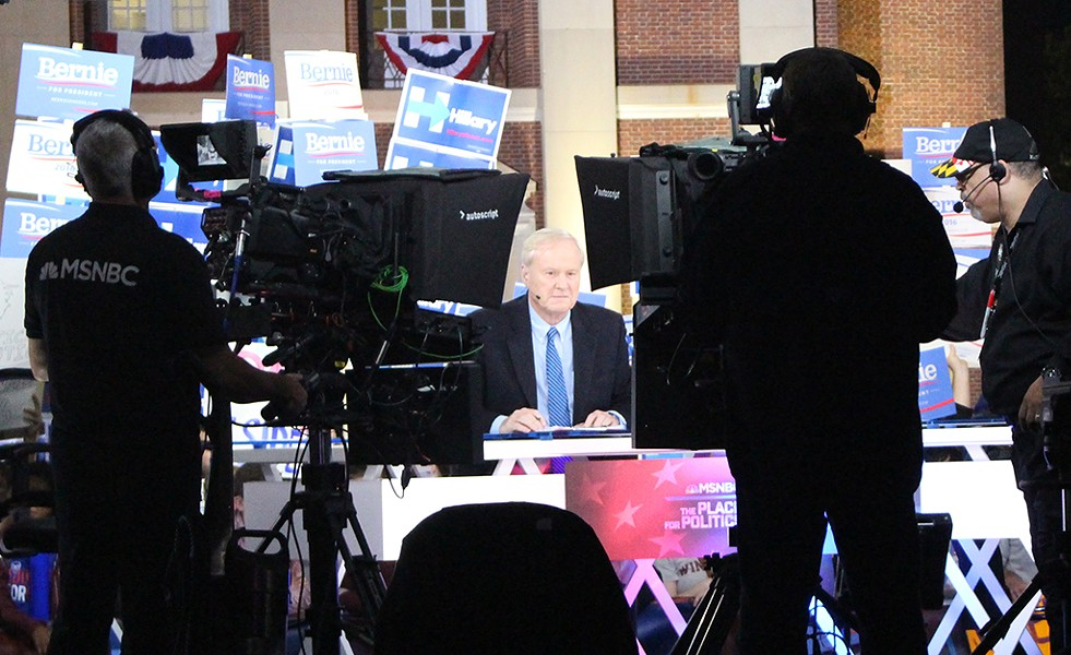 "MSNBC's Chris Matthews hosts ""Hardball"" before a Rock Hill, S.C., candidates forum - PAUL HEINTZ"