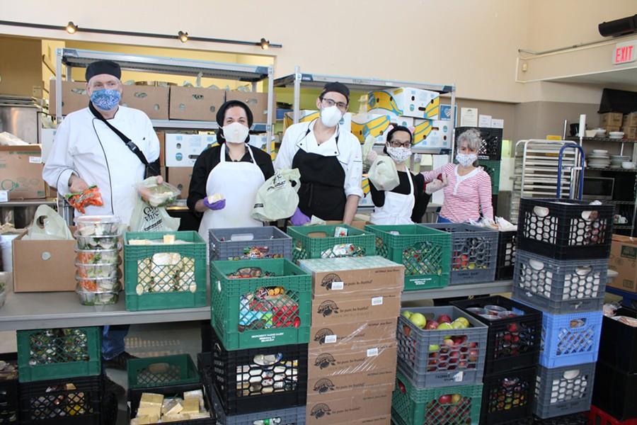 Jim Logan (left) and his team at Feeding Chittenden - COURTESY OF FEEDING CHITTENDEN