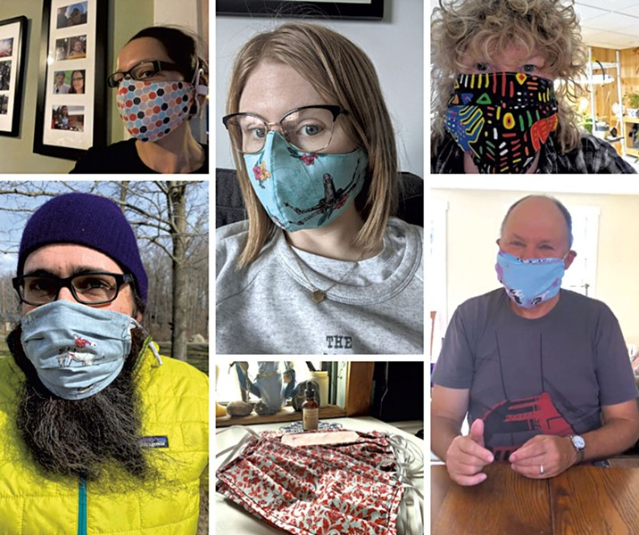 Photos submitted to Show Us Your Masks!, part of a Vermont Folklife Center project