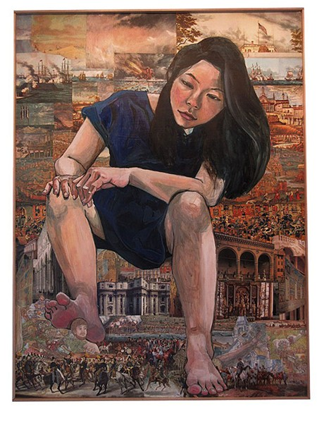 """""""Giant Asian Girl: Self Portrait"""" by Misoo - COURTESY IMAGE"""