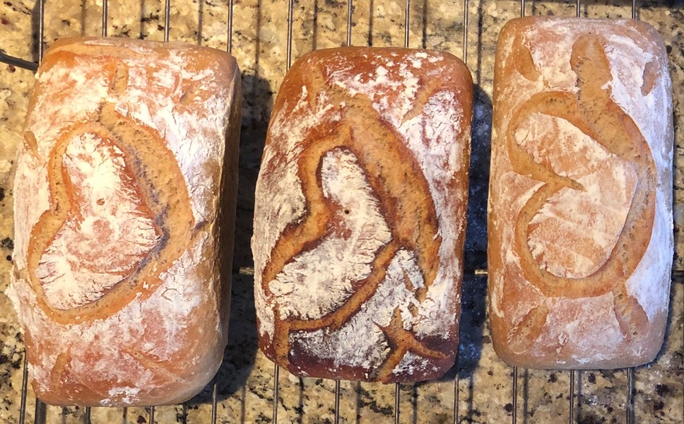 """Bread Fairy"" loaves ready for delivery - COURTESY OF MARY JANE DIETER"