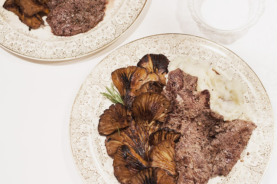 Pan-seared venison with oyster mushrooms - HANNAH PALMER EGAN