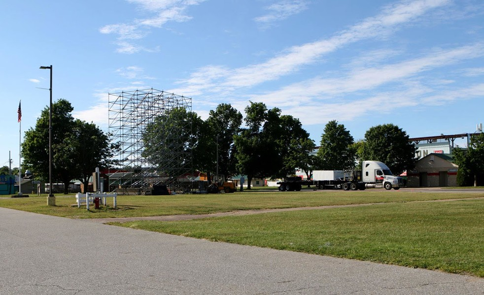 Higher Ground's new stage at the Champlain Valley Exposition - COURTESY OF MIKE NOSEK