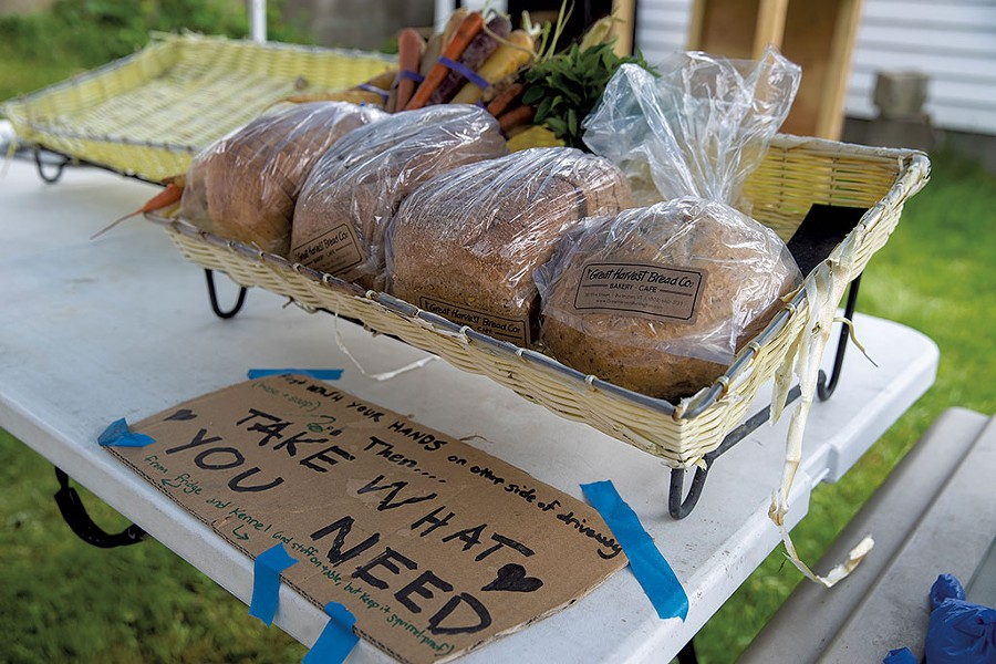 Food Not Bombs table - JAMES BUCK