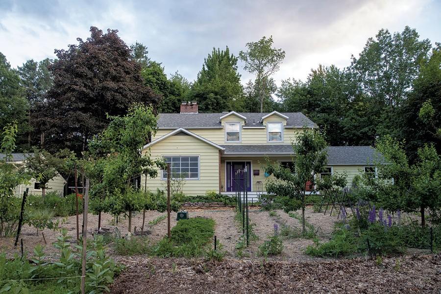 "Ethan Joseph and Jessica DeBiasio's front yard ""mini farm"" in South Burlington - JAMES BUCK"
