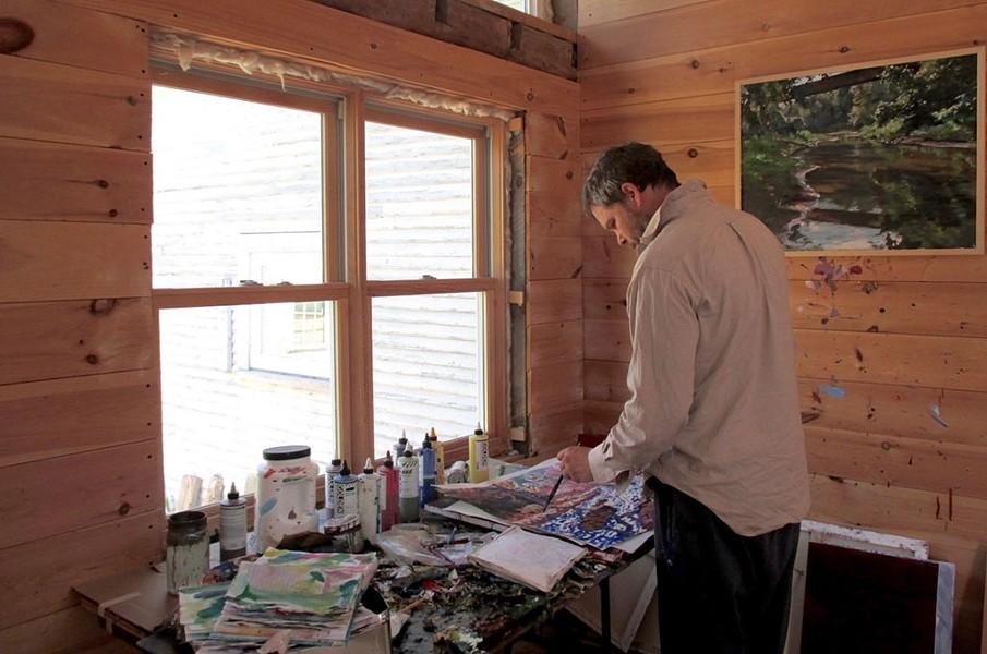 Neil Berger's studio - COURTESY PHOTO
