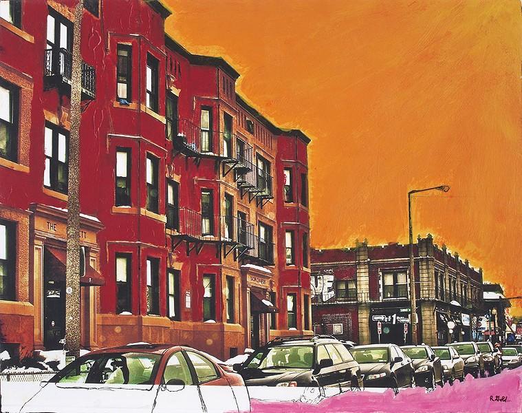 """Robert Gold, """"Brookline Building"""""""