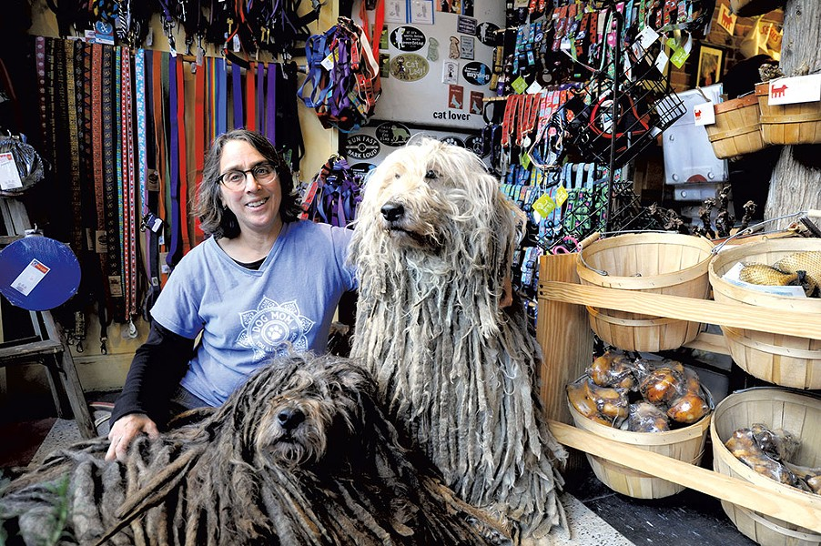 Cindra Conison with her Bergamasco sheepdogs - JEB WALLACE-BRODEUR