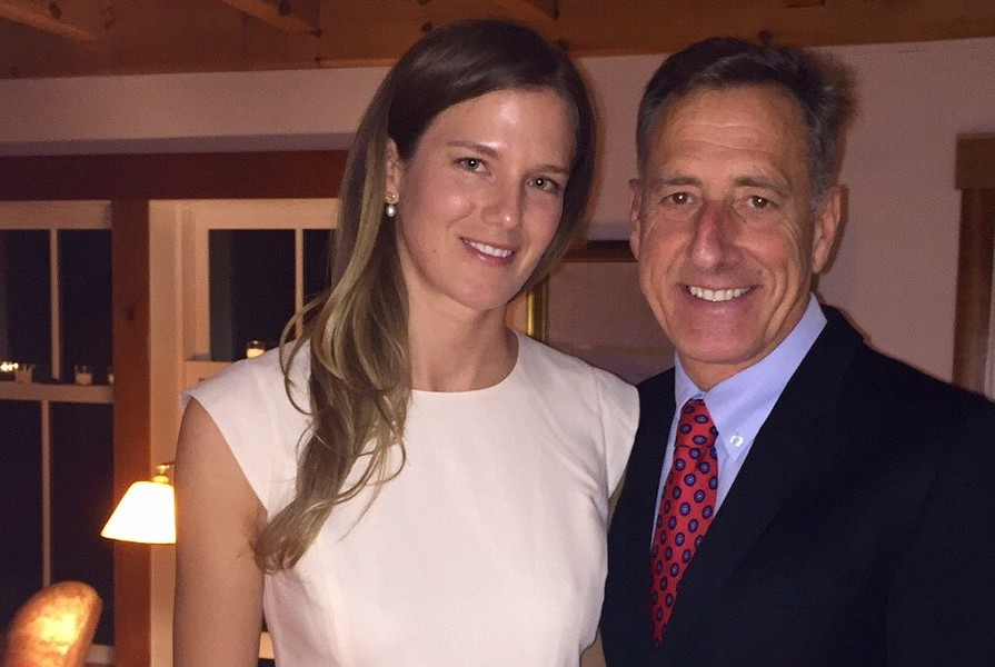 Katie Hunt and Peter Shumlin - COURTESY PHOTO