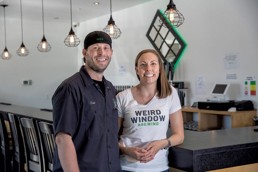 Jack and Emily Droppa of Weird Window Brewing - JAMES BUCK